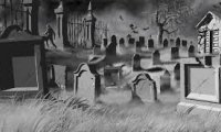 Graveyard sounds for halloween night